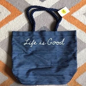 Life Is Good Beach Tote
